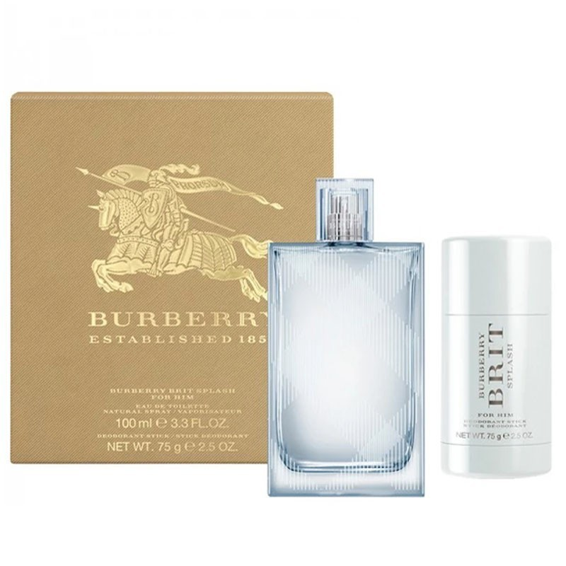 Burberry Brit Splash (M) Edt 100 Ml+75 Ml Deo Stick Travel Set