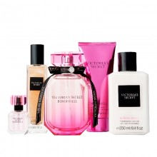 Victoria's Secret Bombshell - Eau de Parfum, 100 ml+7.5 ml Mini+50 ml Shimmer Oil+100 ml Sg+250 ml Bl Set