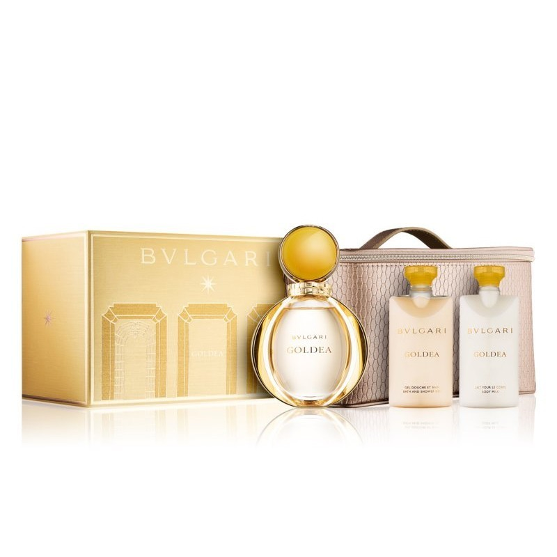 Bvlgari Goldea Edp 90 Ml+75 Ml Bm+75 Ml Bath And Sg + Pouch Set