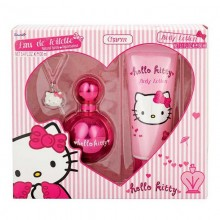 Hello Kitty Pink - Eau de Toilette, 100 ml+150 ml Body Lotion+charm Set
