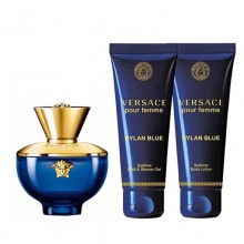 Versace Dylan Blue - Eau de Parfum, 50 ml+50 ml Shower Gel+50 ml Body Lotion Set