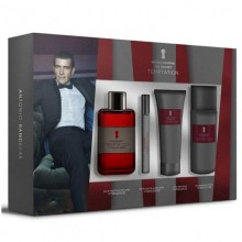 Antonio Banderas The Secret Temptation - Eau de Toilette, 100 ml+10 ml Miniature+75 ml After Shave Balm+150ml Deodorant Set
