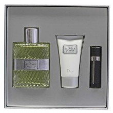 Christian Dior Eau Sauvage - Eau de Toilette, 100 ml+3 ml Refillable Spray+50 ml Shower Gel Set