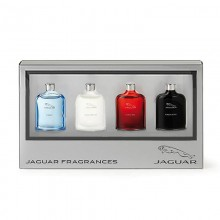 Jaguar Classic Black Eau de Toilette, 7 ml + classic Red 7 ml + classic Motion 7 ml + classic Blue 7 ml mini set