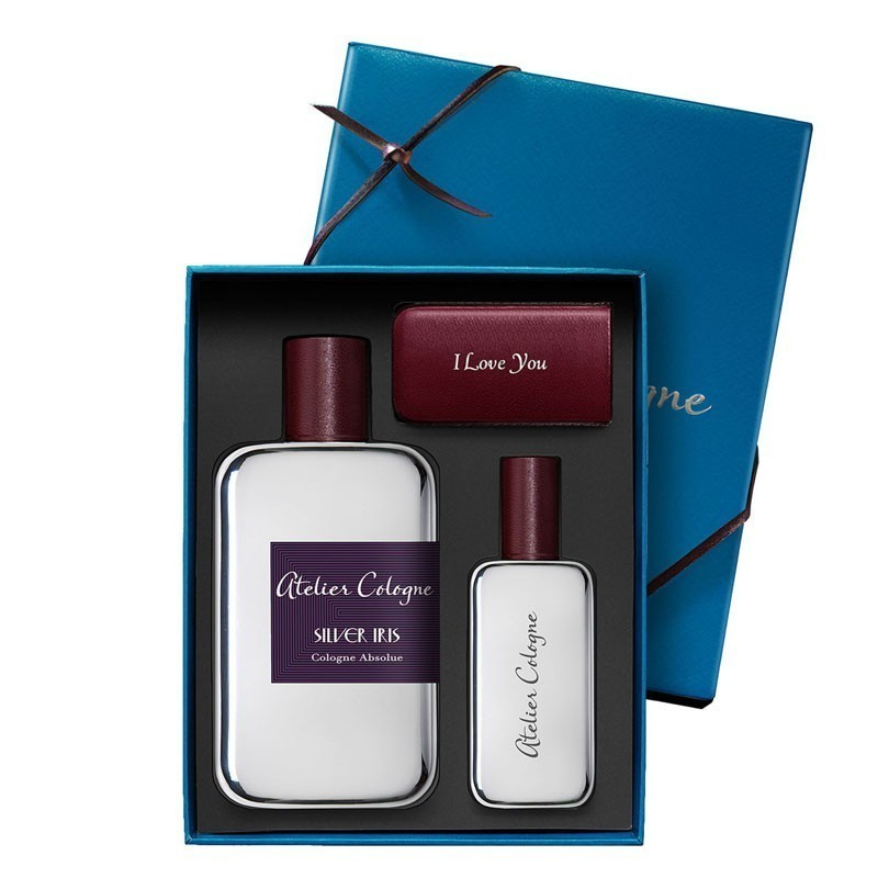 Atelier Cologne Silver Iris Absolue Edp 100 Ml+30 Ml+Leather Case Trv Set