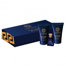 Versace Dylan Blue - Eau de Toilette, 5 ml+25 ml Shower Gel+25 ml After Shave Balm Miniature Set