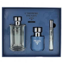 Prada Milano L'Homme L'Eau Edt 100Ml+10Ml Roll On+100Ml Shower Cream Set