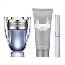 Paco Rabanne Invictus (M)  Edt 100ml+100ml All Over Shampoo +10ml  Mini Set