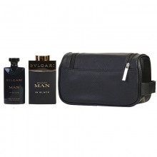 Bvlgari Man In Black Edp 100ml+100ml Asb +pouch Set