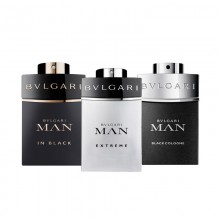 Bvlgari Man In Black Edp 15 Ml+Man Extreme 15 Ml+Man Black Cologne 15 Ml Mni Set