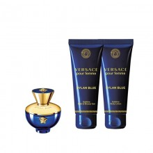 Versace Dylan Blue - Eau de Parfum, 5 ml+25 ml Shower Gel+25 ml Body Lotion Miniature Set