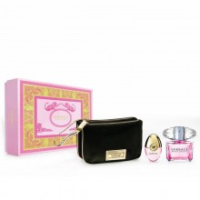 Versace Bright Crystal (W) Edt 90ml+10ml+black Pouch Set